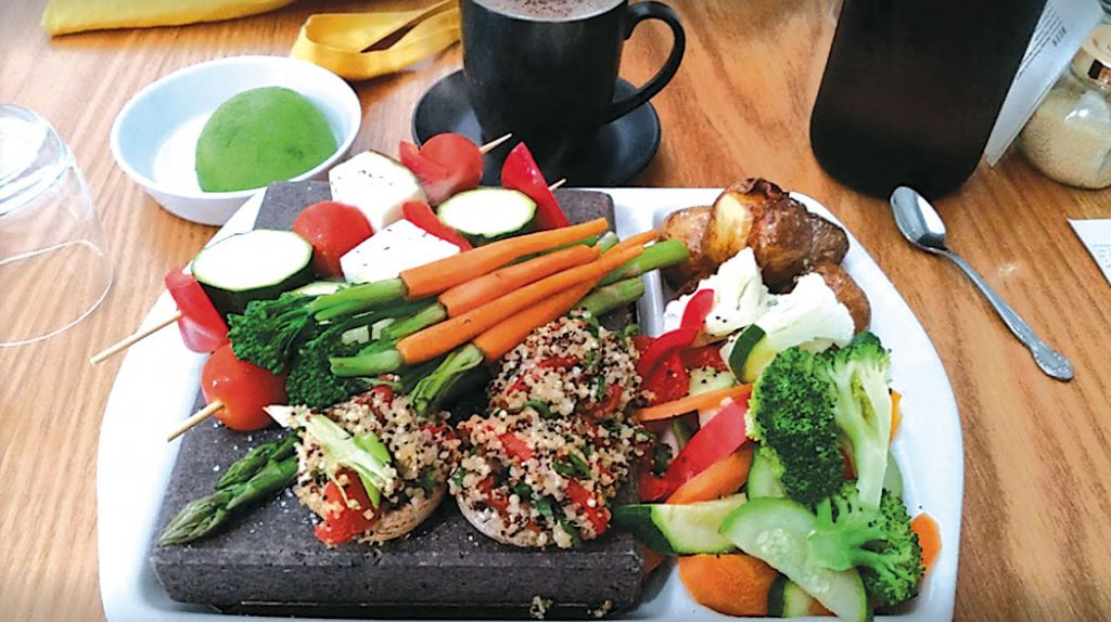 Vault Kitchen + Bar VegetableStone