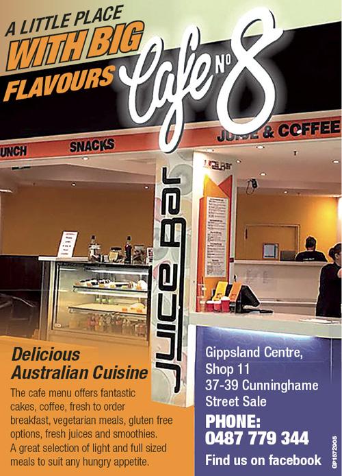 Cafe No 8 Advert