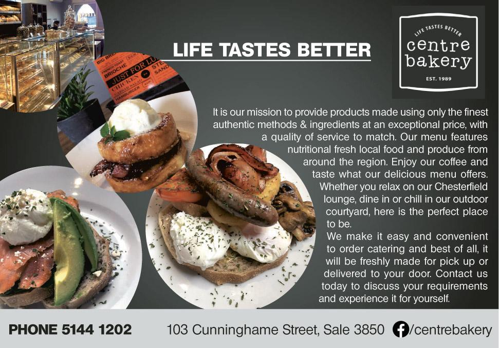 Centre Bakery Advert