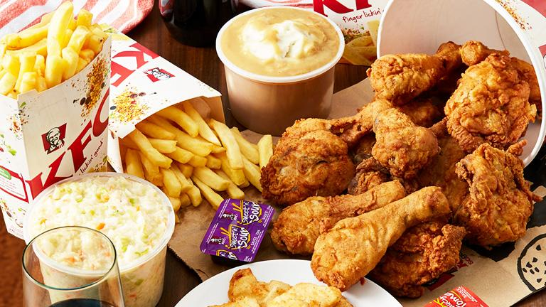 KFC Table of Chicken Fries and others