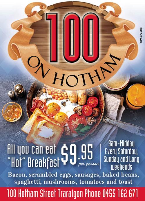 100 Hotham Advert