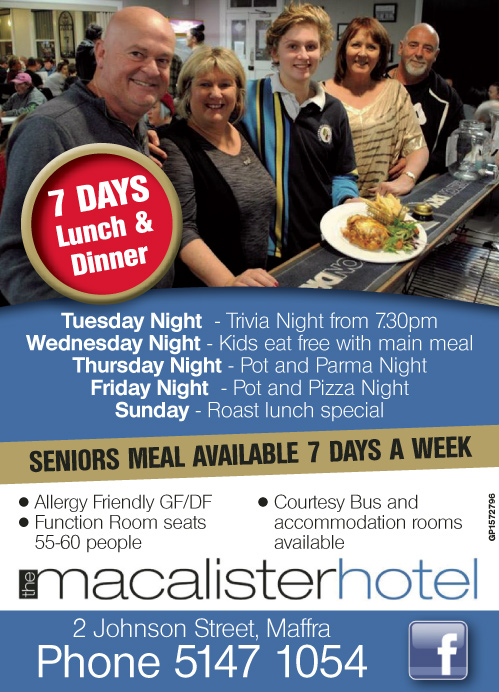 Macalister Hotel Advert