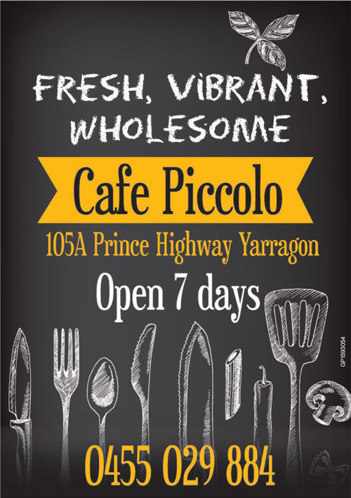 Cafe Piccolol Advert 2019